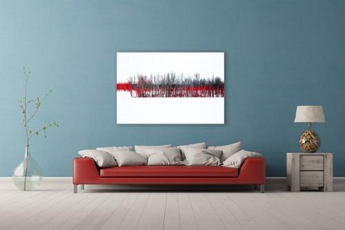 L'orée du bois rouge. Montage sous acrylique.