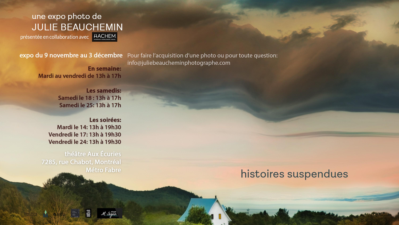 EXPOSITION -histoires suspendues – les heures d'ouverture