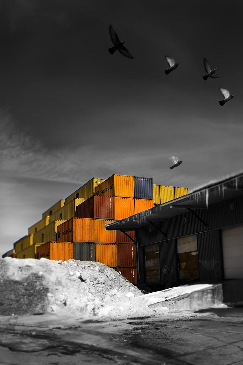 Les conteneurs de Pointe St-Charles. ©Julie_Beauchemin
